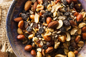 Mixed nuts study snack