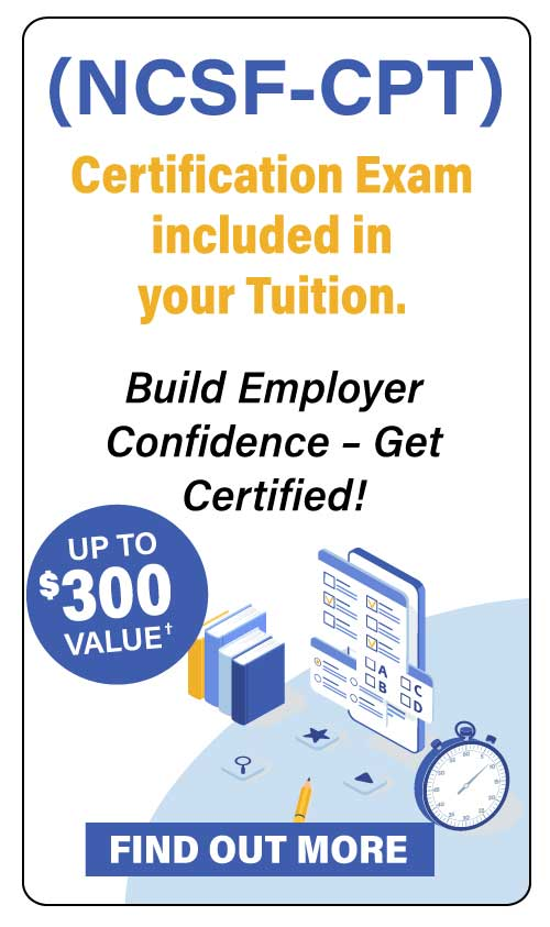 Certification Exam included in your Tuition
