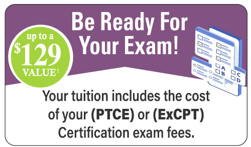Exam Included with your tuition