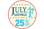 Click here for July 4th Savings special