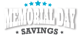 Click here for Memorial Day Savings special