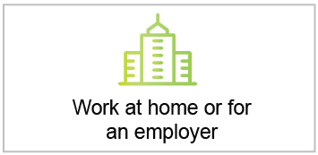 Work at home or for an employer