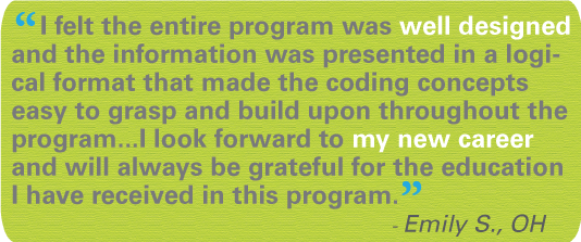 Medical Coding Training testimonial statement