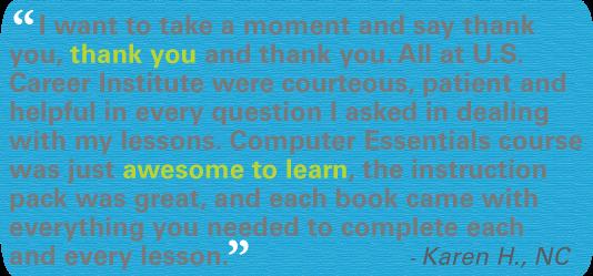 Online Computer Essentials Training testimonial