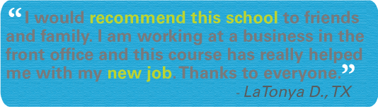 Online Office Administrator training testimonial