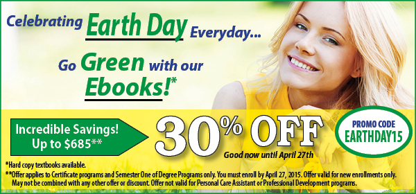 US Career Institute Save 30% off Tuition this Earth Day