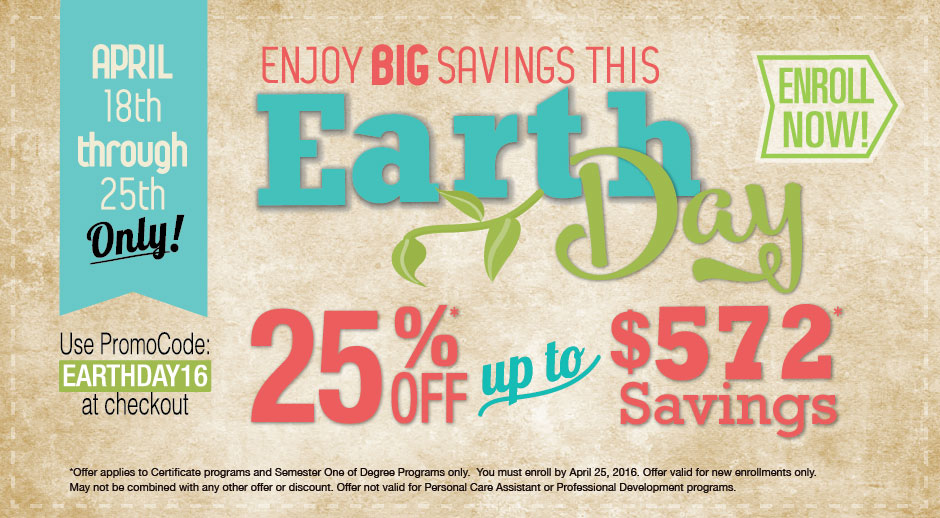Save Big With Our Earth Day Special!