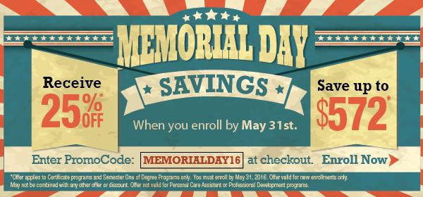 Memorial Day Savings Offer