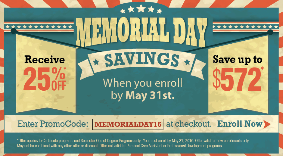 Save Big With Our Memorial Day Special!